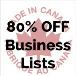 Canada Business Contact Lists 80 Percent Discount