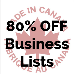 Canada Business Contact Lists 80 Percent Discount